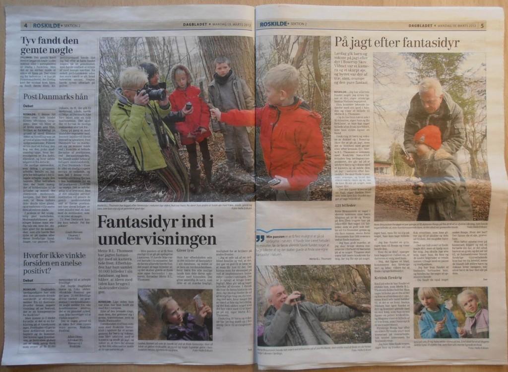 Fotosafari i Boserup Skov. Artikel i DAGBLADET mandag 19. marts 2012